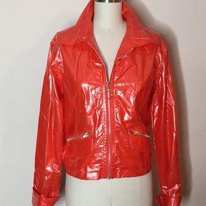 Jackets & Blazers - Orange Vinyl Vintage Rain Jacket
